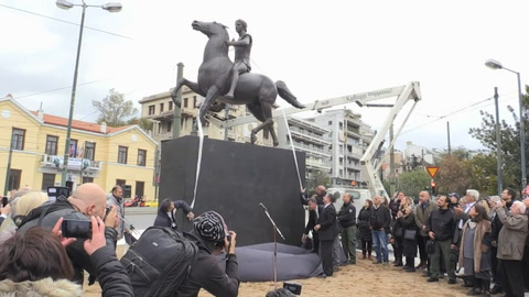 Atenas instala su primera estatua de Alejandro Magno