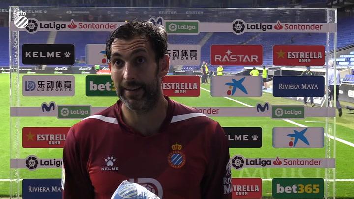 Diego López analiza la derrota del Espanyol ante el Real Madrid