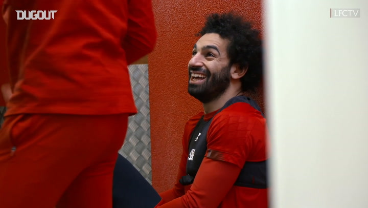 Mohamed Salah and the Liverpool squad return to training ahead of Manchester United clash
