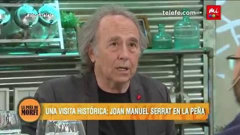 El amor me hace grande, dijo Serrat en un programa con guiños a Rosario