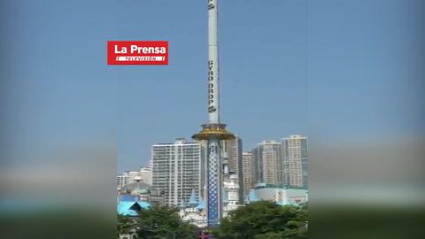 Supuesta Torre de diversión en Corea aterra a cibernautas