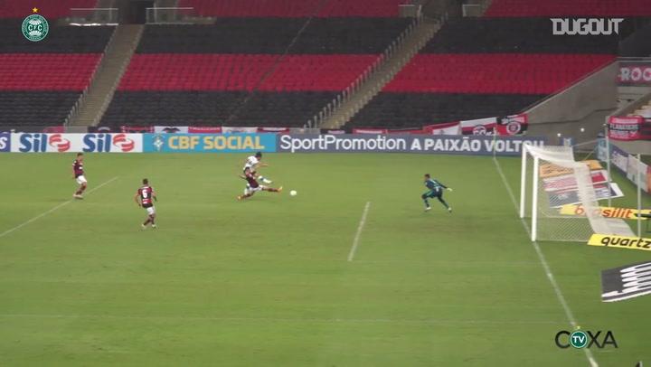 Mattheus Oliveira's goal for Coritiba against Flamengo