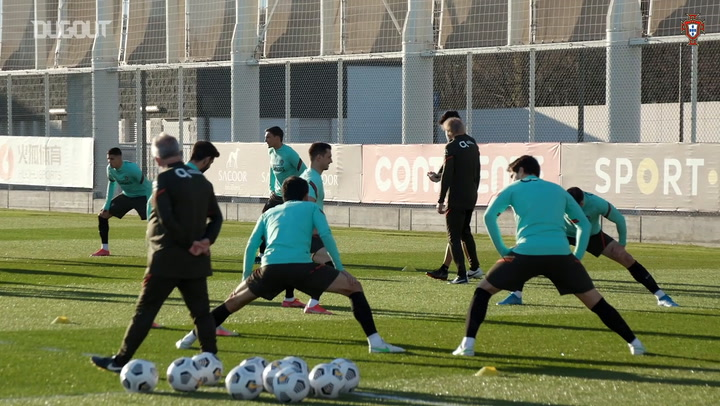 Portugal stars in training ahead of the World Cup qualifiers