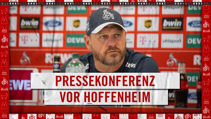 Pressekonferenz vor Hoffenheim
