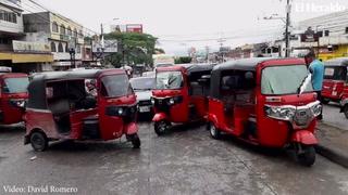 Mototaxis también se unen a la jornada de protestas de este miércoles