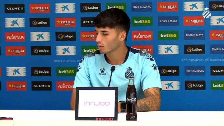 La rueda de prensa de Lluís López (Espanyol)