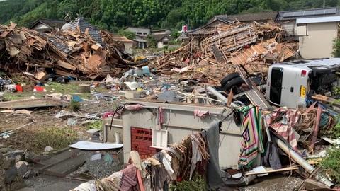 Siguen lluvias torrenciales en Japón, que dejan más de medio centenar de muertos