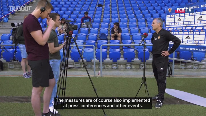 FC Basel show safety changes to stadium