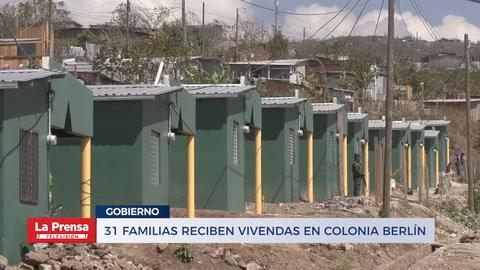 31 familias reciben viviendas en colonia Berlín