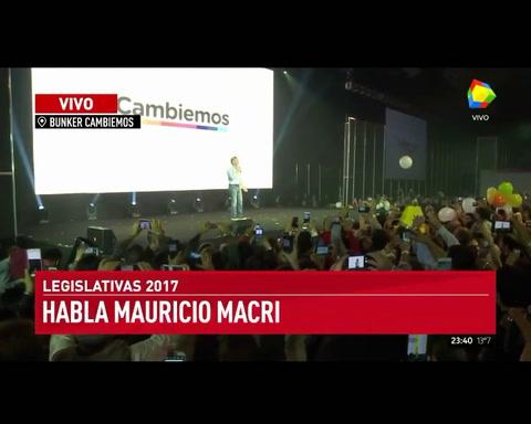Macri, tras la rotunda victoria de Cambiemos: Podemos cambiar la historia para siempre