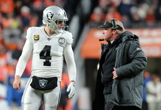 "Gruden says Carr is ""a heck of a player"" – VIDEO"