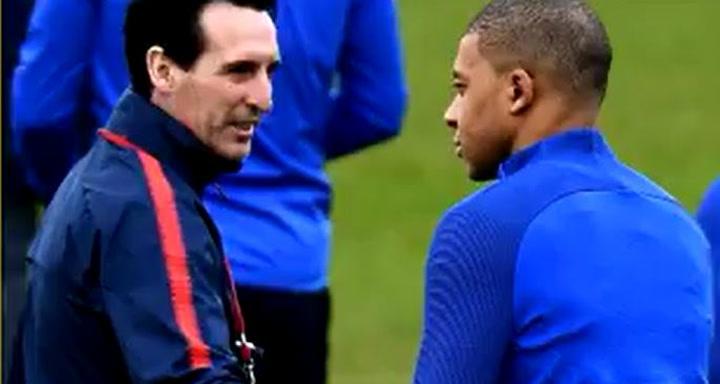 """Emery:  """"Mbappé quería irse al Madrid con los ojos cerrados"""""""
