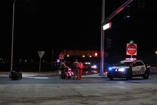 Motorcyclist suffers severe head injury