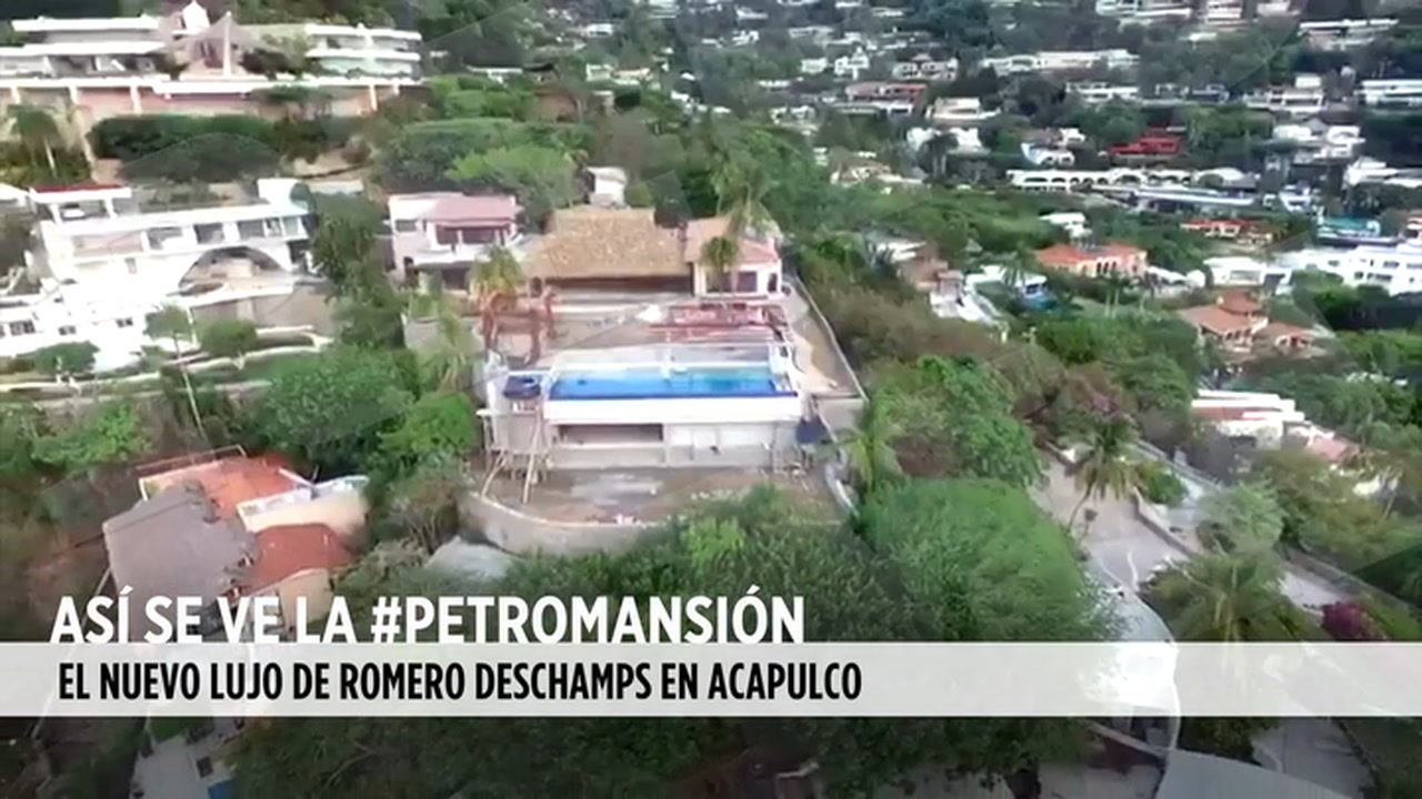 Video: Vista desde el aire, la #PetroMansión de Romero Deschamps