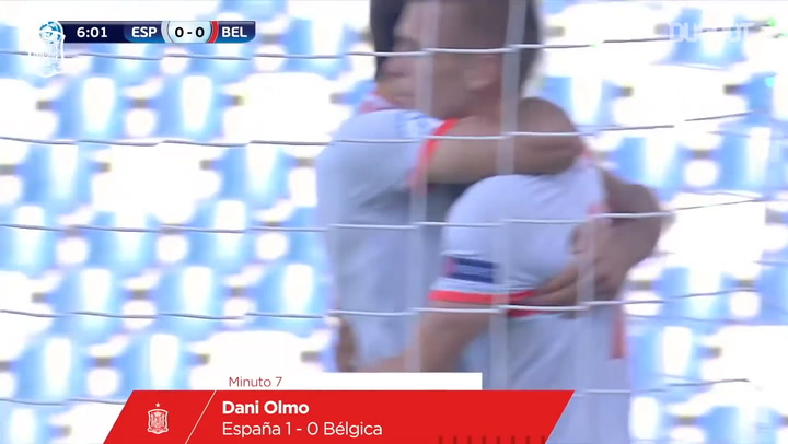 Dani Olmo's superb goal vs Belgium in the U21 Euro