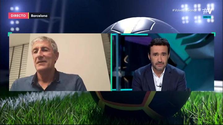 "Setién: ""Messi está perfectamente"""