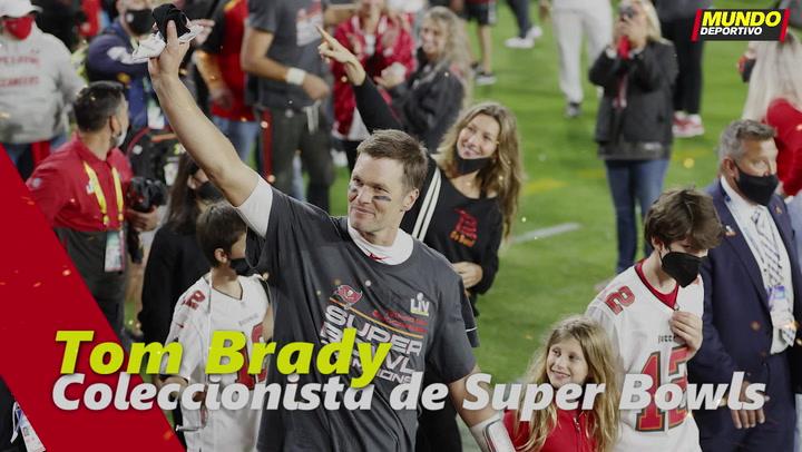 Tom Brady, coleccionista de Super Bowls