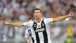 Cristiano Ronaldo anota el 1 - 0 de la Juventus ante el Milan