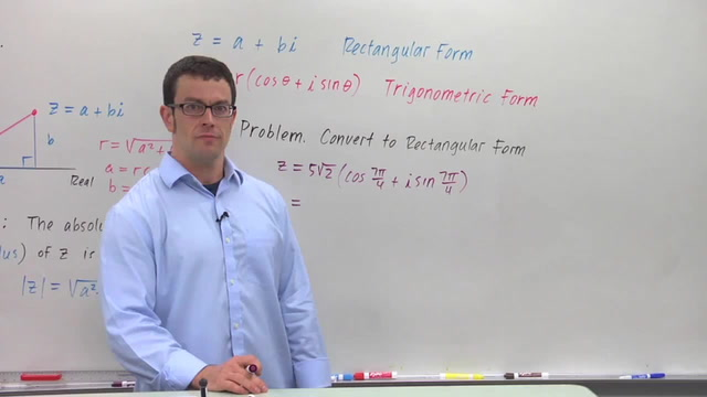 Converting Complex Numbers From Trigonometric Form to Rectangular - Problem 2