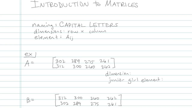 Introduction to Matrices - Problem 1