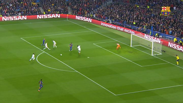 Ousmane Dembélé's first Barça goal vs Chelsea