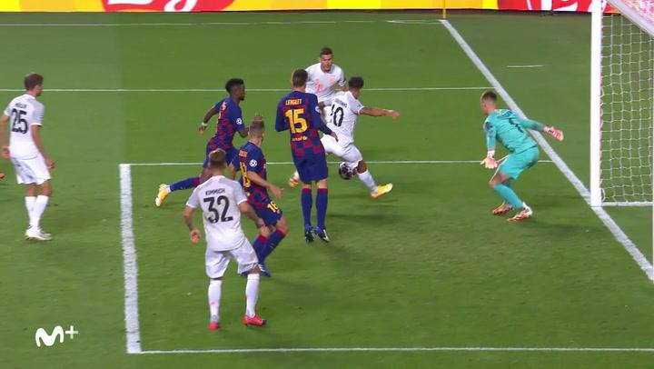 Champions League FC Barcelona-Bayern. Gol de Coutinho (2-8)