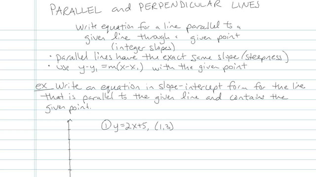 Parallel and Perpendicular Lines - Problem 9