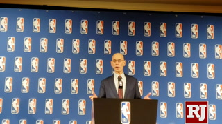 Adam Silver addresses media at Vegas Summer League