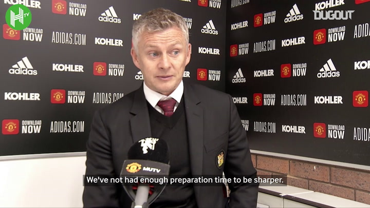 Solskjær: Man United must look in the mirror after defeat to Crystal Palace