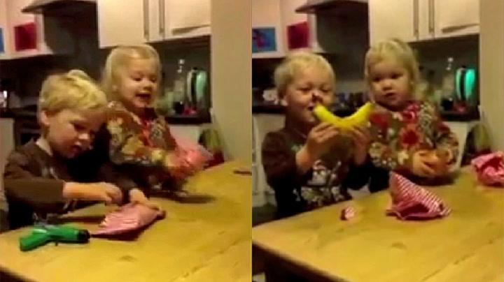 Barnas reaksjon på julegavespøken er ubetalelig