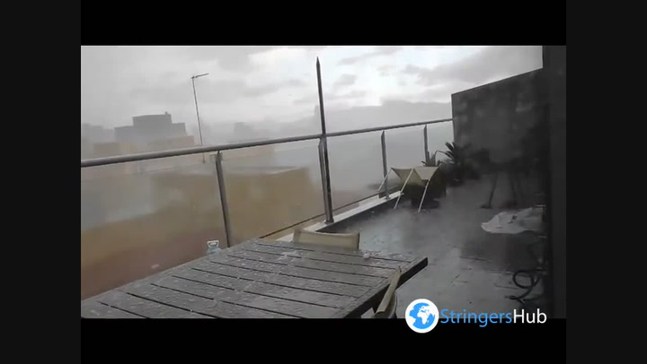 Hail and violent storms batters Spanish town