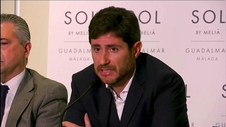 Víctor Sánchez del Amo carga contra el Málaga