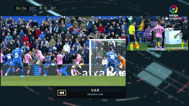 Gol de Ángel (1-0) en el Getafe 1-0 Betis