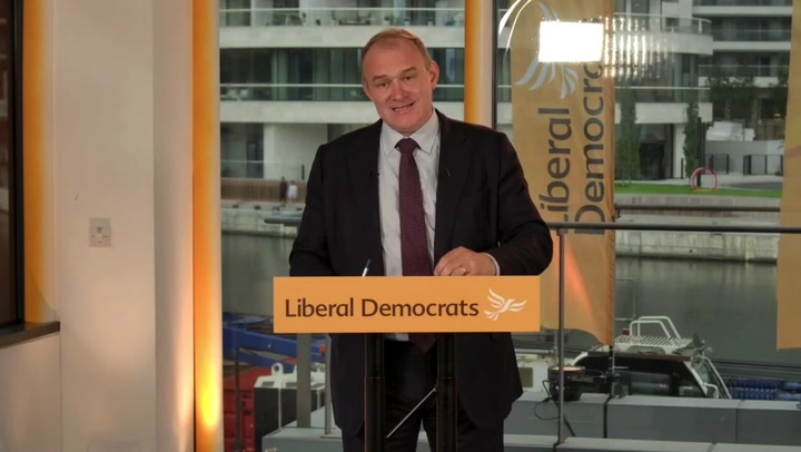 Sir Ed Davey promises to ban 'fossil fuel money' from City of London