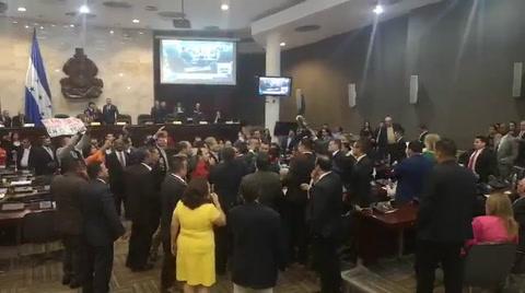 Diputados se van a los golpes durante zafarrancho en el Congreso Nacional