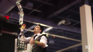 Bartending flair competition at the Nightclub & Bar Show