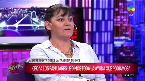 Familiar de la tragedia de Once dijo que la ayuda de Cristina fue para hacer las tumbas