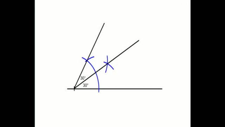 Matte: Hvordan konstruere en 30-graders vinkel