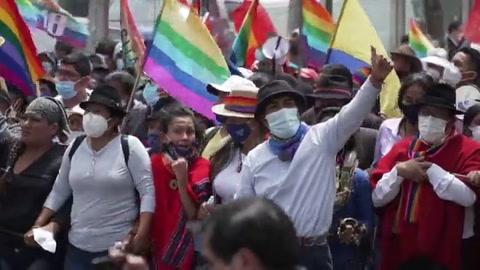 Indígenas de Ecuador piden recuento de votos al término de marcha contra supuesto fraude