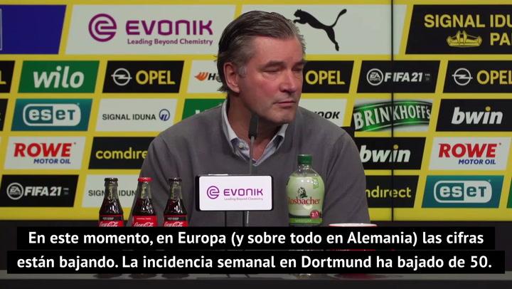 """Zorc, sobre el viaje a Sevilla: """"Seguiremos cumpliendo el protocolo a rajatabla"""""""