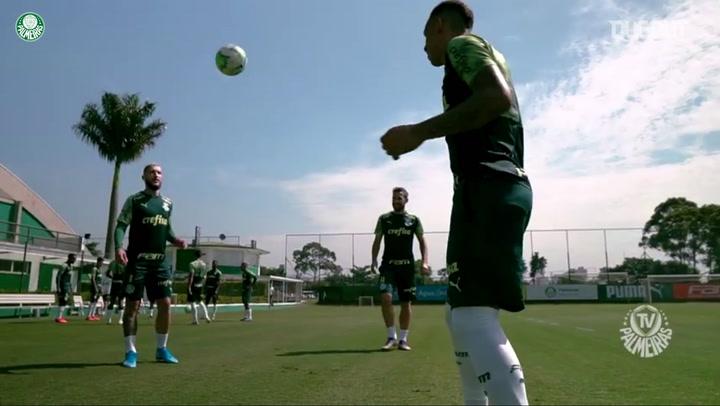 Palmeiras finaliza preparação para duelo com o Atlético-MG