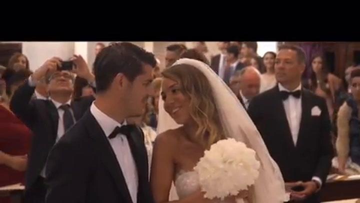 Morata y Alice Campello celebran su 2º aniversario de casados
