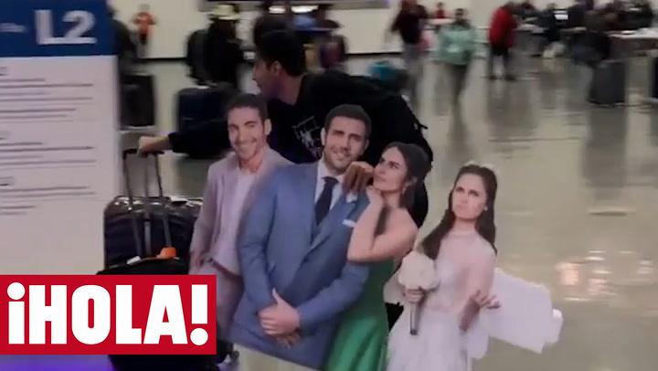 ¿Qué hace Miguel Ángel Silvestre corriendo por el aeropuerto?