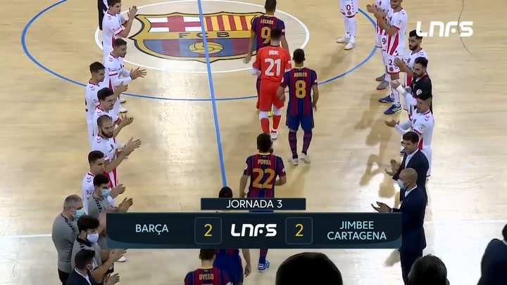 LNFS: Barça - Jimbee Cartagena 2-2 (jornada 3 Temp 20-21)