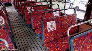Esta es la propuesta de las medidas de bioseguridad de los buses rapiditos