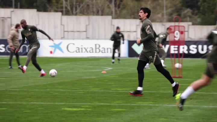 El Atlético de Madrid sigue preparando el partido ante el Celta