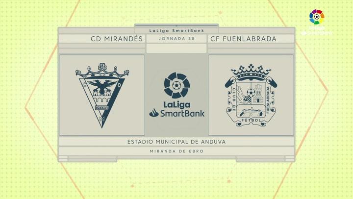 LaLiga SmartBank (J38): Resumen y goles del Mirandés 2-1 Fuenlabrada