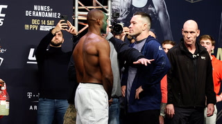 UFC 245 Ceremonial Weigh-in Staredowns
