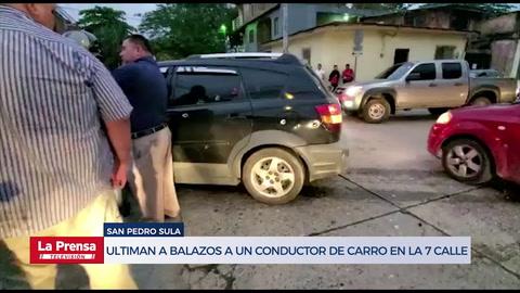 Ultiman a balazos a un conductor de carro en la 7 calle de San Pedro Sula