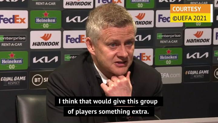 Trophy can be catalyst for Manchester United - Solskjaer